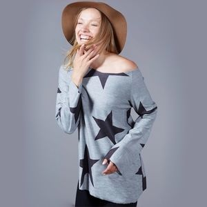 """Tops - """"Such a Star"""" Off the Shoulder Tee"""